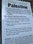sign - Stand Up For Palestine