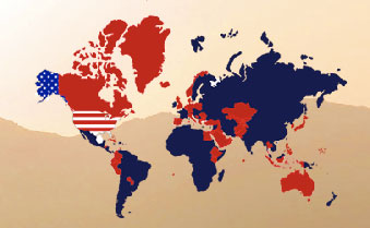 US Military Bases - World Map